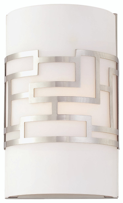 George Kovacs Alecia's Necklace 1 Light Wall Sconce in Brushed Nickel, P195-084
