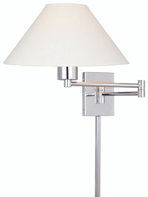 George Kovacs Boring™ 1 Light Swing Arm Wall Lamp In Chrome
