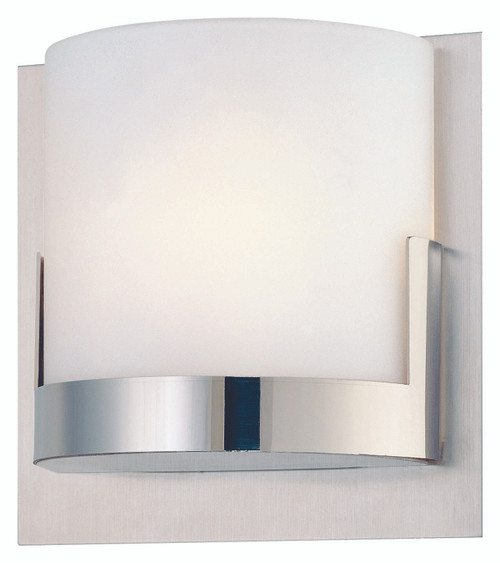 George Kovacs Convex 1 Light Wall Sconce In Chrome