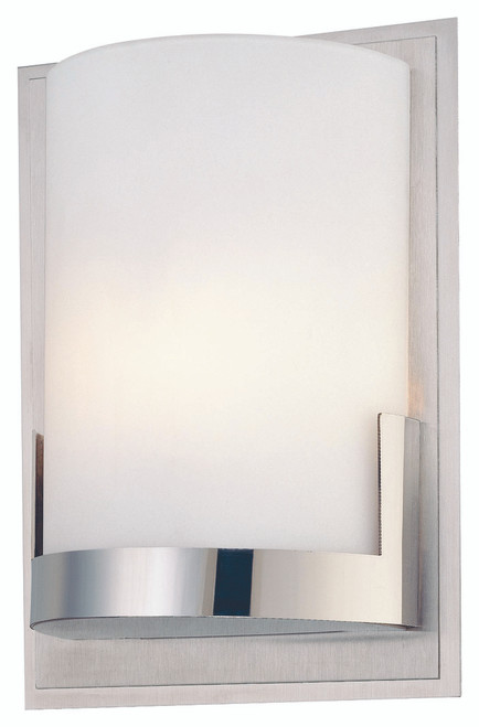 George Kovacs Convex 1 Light Wall Mount In Chrome