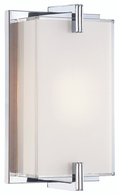 George Kovacs Cubism 1 Light Wall Sconce in Chrome, P5210-077