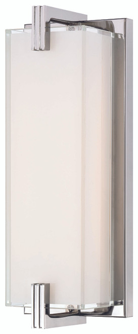 George Kovacs Cubism LED Wall Sconce in Chrome, P5219-077-L