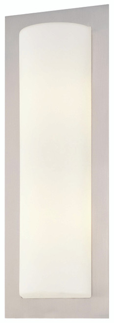 George Kovacs Wall Sconces 2 Light Wall Sconce in Brushed Stainless Steel, P563-144A