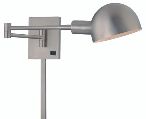 George Kovacs Task Wall Sconces 1 Light Swing Arm Wall Sconce in Matte Brushed Nickel, P600-3-603