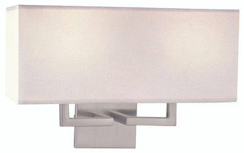 George Kovacs 2 Light Wall Sconce In Brushed Nickel