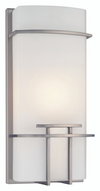 George Kovacs 1 Light Wall Sconce In Brushed Nickel
