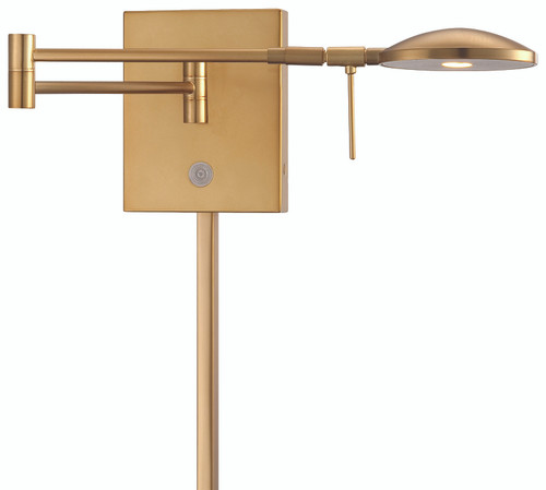 George Kovacs George's Reading Room 1 Light LED Swing Arm Wall Lamp in Honey Gold, P4338-248