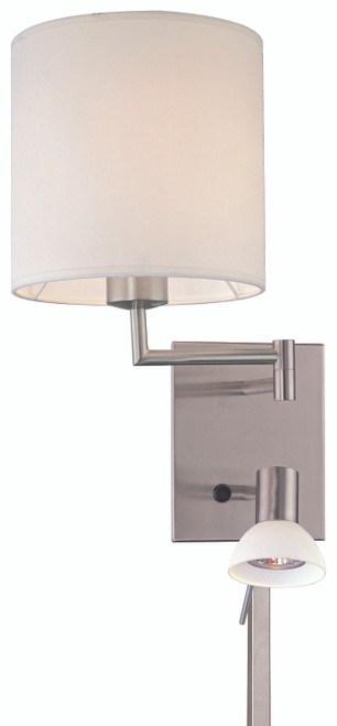 George Kovacs George'S Reading Room™ 1 Light Convertible Wall Lamp With Reading Lamp In Brushed Nickel