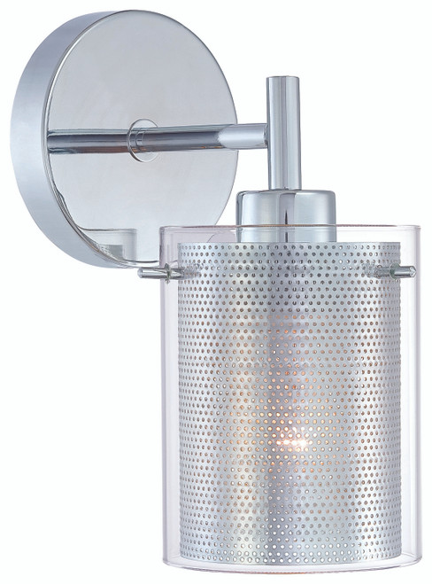 George Kovacs Grid™ Ii 1 Light Wall Sconce In Chrome
