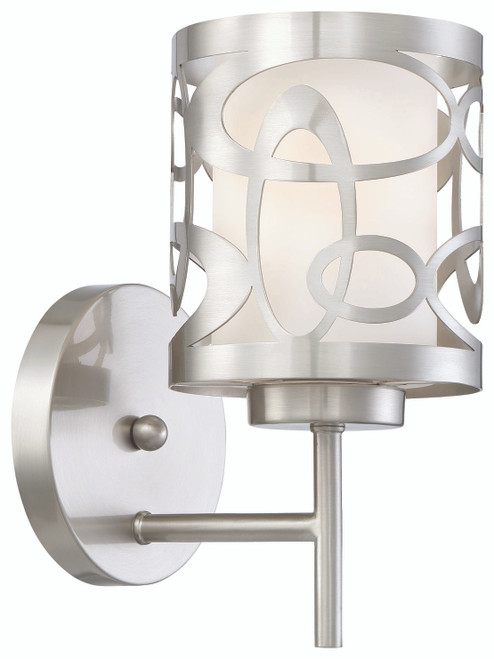 George Kovacs Links 1 Light Wall Sconce In Brushed Nickel