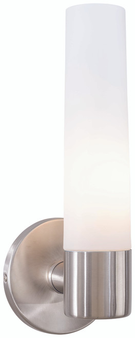 George Kovacs Saber 1 Light Wall Sconce in Brushed Stainless Steel, P5041-144