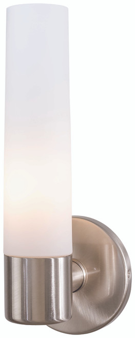 George Kovacs Saber 1 Light Wall Sconce In Brushed Nickel