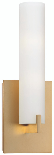 George Kovacs Tube 2 Light Wall Sconce In Honey Gold