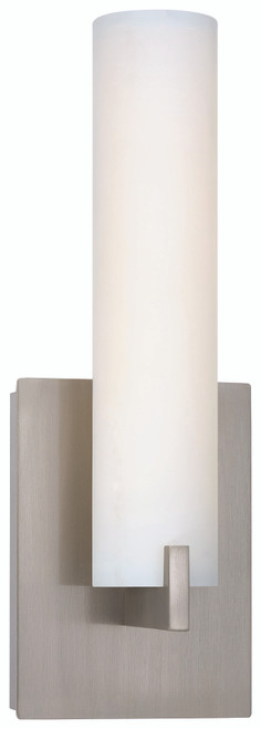 George Kovacs Tube 1 Light Led Wall Sconce In Brushed Nickel