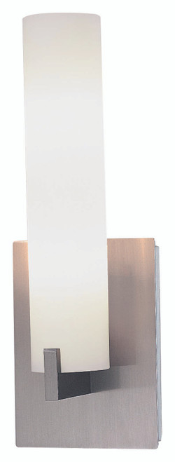 George Kovacs Tube 2 Light Wall Sconce In Brushed Nickel