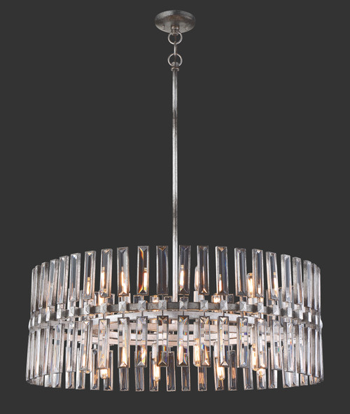 Metropolitan Belle Aurore 16 Light Pendant in Shadow Silver Leaf, N7716-700