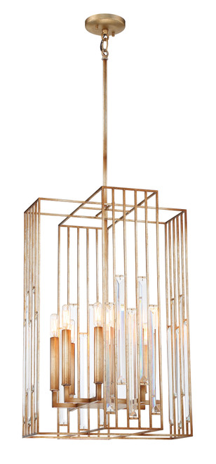Metropolitan Ruxton Hall 8 Light Pendant in Skyline Gold Leaf, N7728-710