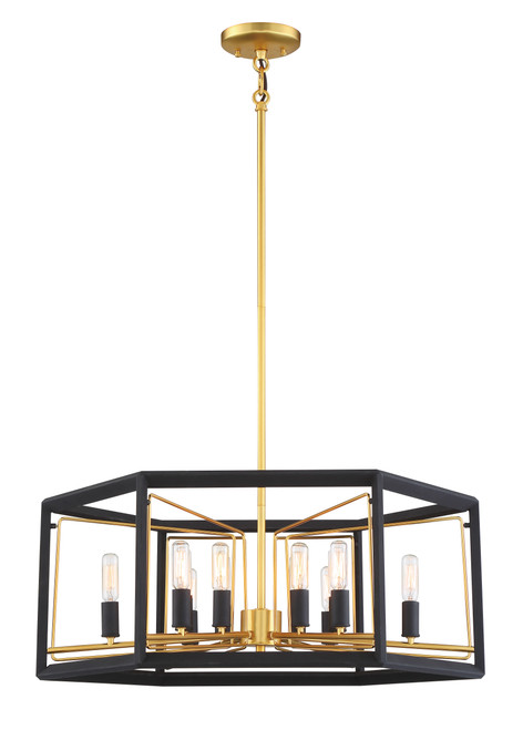 Metropolitan Sable Point 12 Light Pendant in Sand Coal With Honey Gold Acce, N7855-707