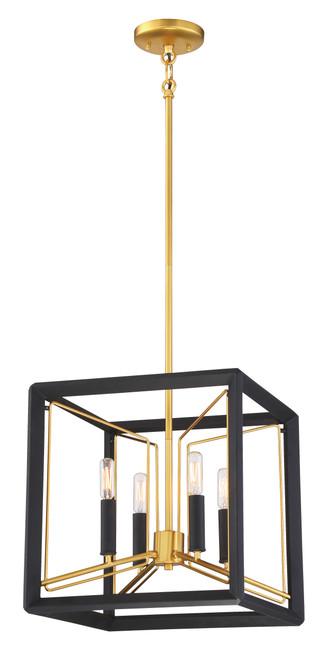 Metropolitan Sable Point Collection 4 Light Cube Pendant