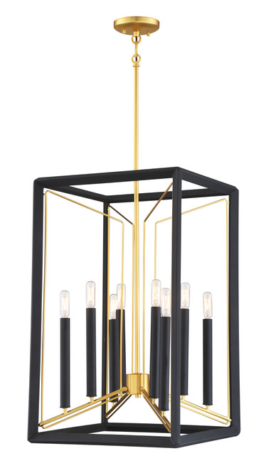 Metropolitan Sable Point 8 Light Pendant in Sand Coal With Honey Gold Acce, N7858-707