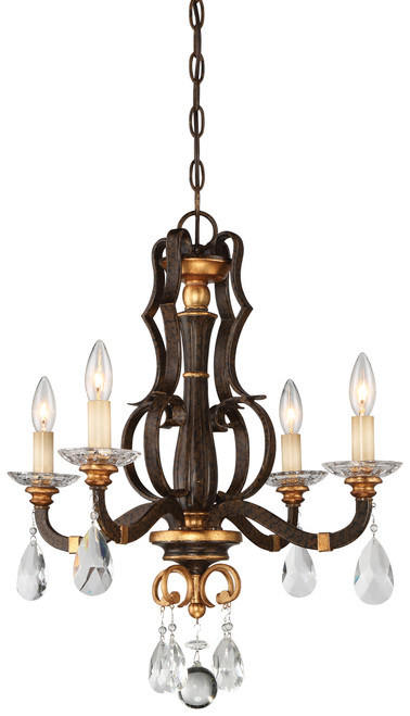 Metropolitan Chateau Nobles Collection 4 Light Mini Chandelier