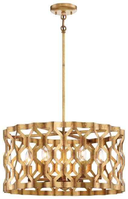 Metropolitan Coronade 6 Light Pendant in Pandora Gold Leaf, N6775-293