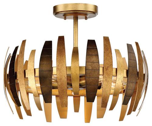 Metropolitan Manitou 5 Light Semi Flush in Ardor Gold, N7835-659