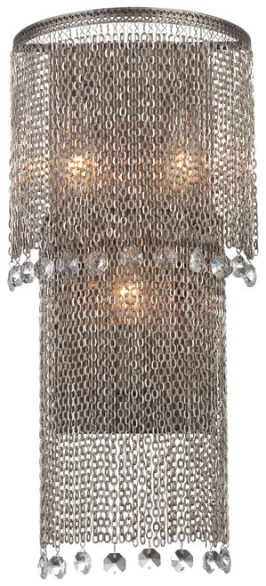 Metropolitan Shimmering Falls Collection 3 Light Wall Sconce
