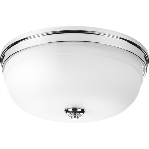 "Progress Lighting Topsail Collection Three-light 15"" Flush Mount in Polished Chrome"