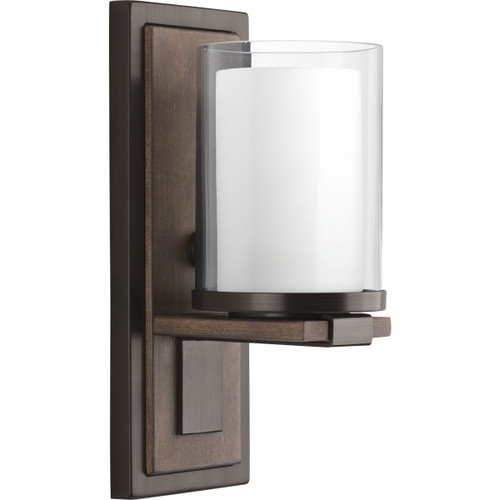 Progress Lighting Mast Collection One-Light Wall Sconce in Antique Bronze