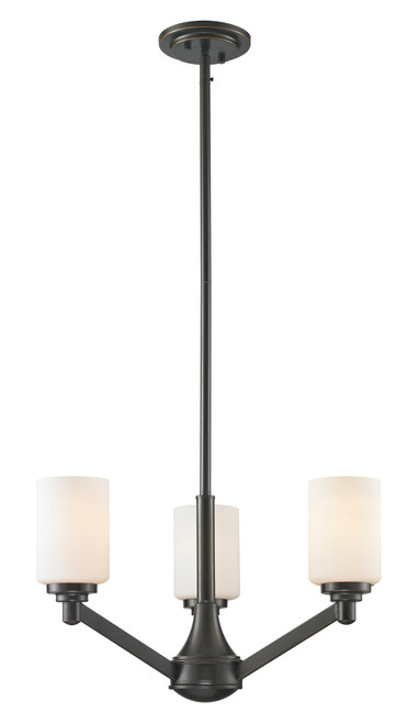 Z-Lite Montego Collection 3 Light Chandelier in Coppery Bronze Finish, 411-3