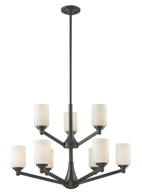 Z-Lite Montego Collection 9 Light Chandelier in Coppery Bronze Finish, 411-9