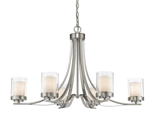 Z-Lite Willow Collection 6 Light Chandelier in Brushed Nickel Finish, 426-6-BN