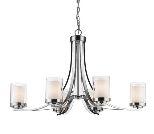 Z-Lite Willow Collection 6 Light Chandelier in Chrome Finish, 426-6-CH