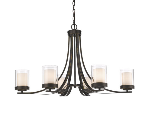 Z-Lite Willow Collection 6 Light Chandelier in Olde Bronze Finish, 426-6-OB