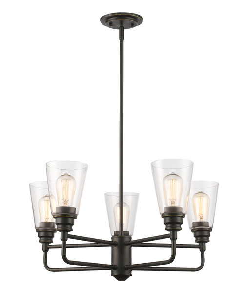 Z-Lite Annora Collection 5 Light Chandelier in Olde Bronze Finish, 428-5-OB
