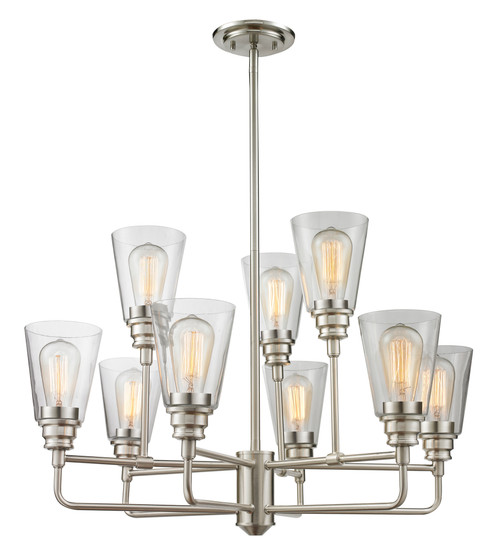 Z-Lite Annora Collection 9 Light Chandelier in Brushed Nickel Finish, 428-9-BN