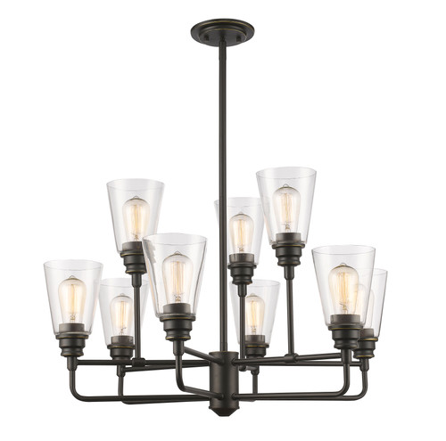 Z-Lite Annora Collection 9 Light Chandelier in Olde Bronze Finish, 428-9-OB