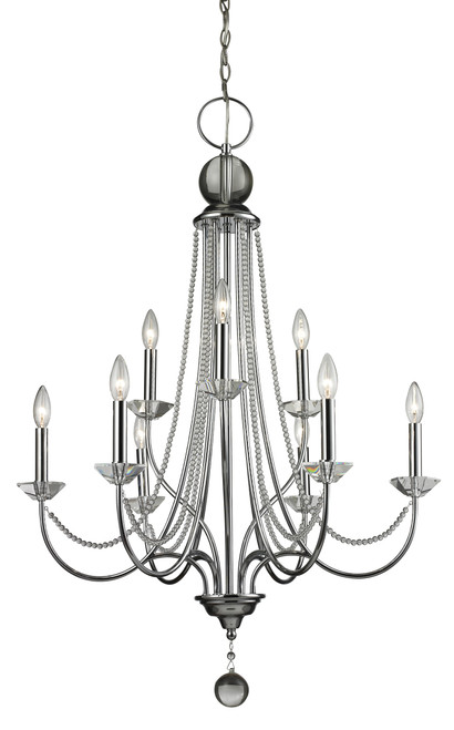 Z-Lite Serenade Collection 9 Light Chandelier in Chrome Finish, 429-9-CH