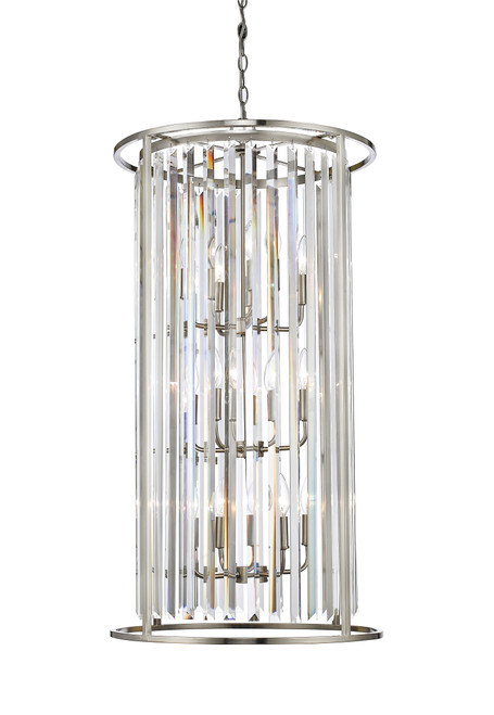 Z-Lite Monarch Collection 12 Light Chandelier in Brushed Nickel Finish, 439-12BN
