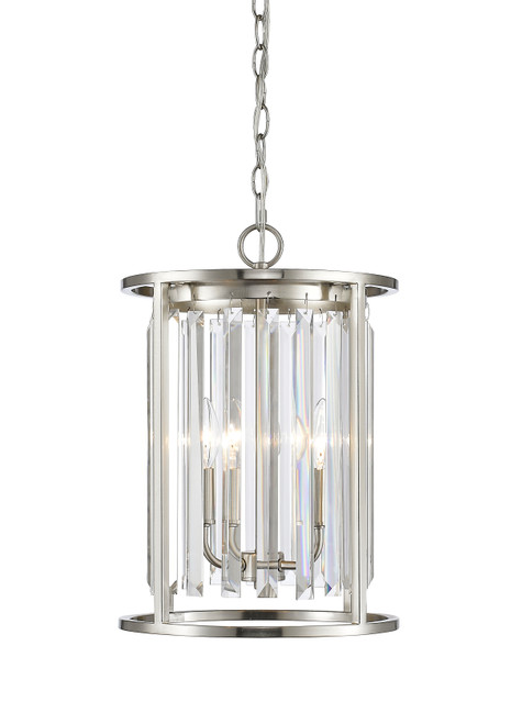 Z-Lite Monarch Collection 3 Light Chandelier in Brushed Nickel Finish, 439-3BN
