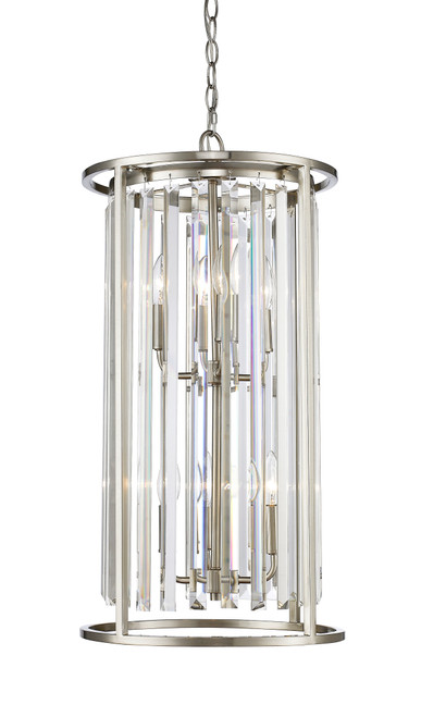 Z-Lite Monarch Collection 6 Light Chandelier in Brushed Nickel Finish, 439-6BN