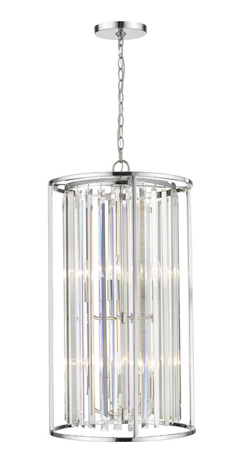 Z-Lite Monarch Collection 8 Light Chandelier in Chrome Finish, 439-8CH