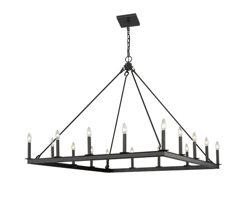 Z-Lite Barclay Collection 16 Light Chandelier in Matte Black Finish, 482S-16MB