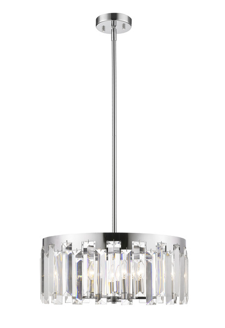 Z-Lite Cormac Collection 6 Light Chandelier in Chrome Finish, 6009-23CH