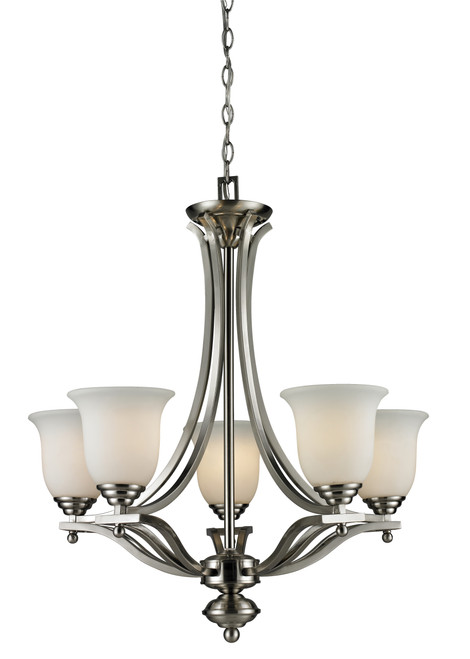 Z-Lite Lagoon Collection 5 Light Chandelier in Brushed Nickel Finish, 704-5-BN
