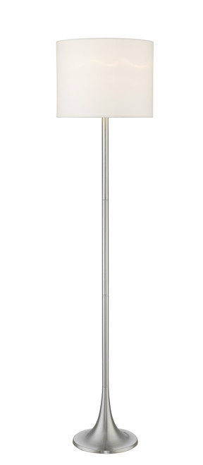 Z-Lite Portable Lamps Collection 1 Light Floor Lamp in Brushed Nickel Finish