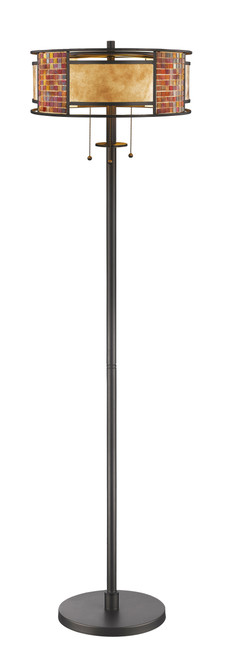 Z-Lite Parkwood Collection 3 Light Floor Lamp in Bronze Finish