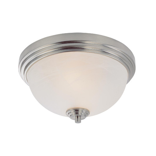 Z-Lite Chelsey Collection 2 Light Flush Mount in Brushed Nickel Finish, 314F2-BN