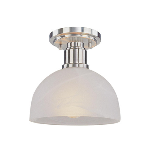 Z-Lite Chelsey Collection 1 Light Flush Mount in Brushed Nickel Finish, 314F-BN
